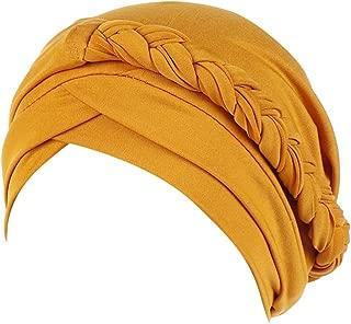 FEDULK Women's Islamic India Hat Plain Ruffle Cancer Chemo Beanie Turban Muslim Wrap Cap
