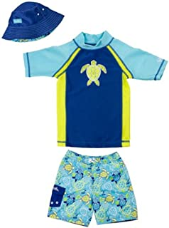 UV Skinz UPF 50?Boys 3個入りSea Turtle Swimset