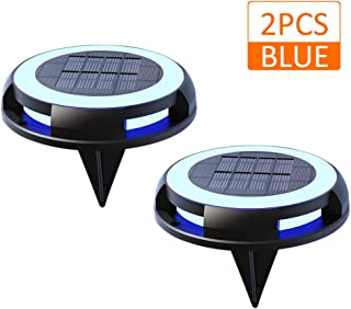 Lixada Lámpara de Césped con Energía Solar IP68 Luces de Disco Luces de Suelo Impermeables al Aire Libre para Camino Entrada Jardín Césped