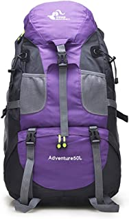 DGFTC-2 50L Hiking Backpack, High-Performance Large Capacity Waterproof Backpack for Backpacking, Hiking, Camping, Mountaineering, Outdoor Sport Unisex