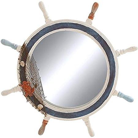 Amazon Com Deco 79 Ship Wheel Mirror With Highly Inspiring Decorative Design Home Kitchen