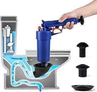Air Drain Blaster,Power Toilet Plunger,Pressure Pump Cleaner,High Pressure Plunger for Bath/Toilets/Sink/Floor Drain/Kitch...