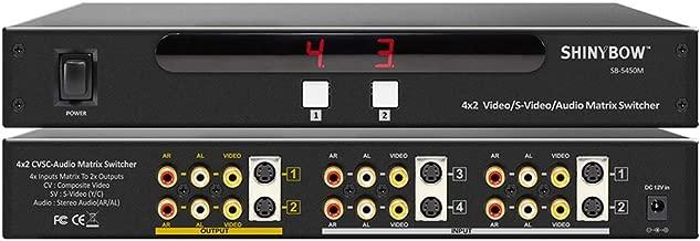 ShinybowUSA 4x2 S-Video/Composite Video/Analog Audio Matrix Switcher Metal Case w/IR Remote