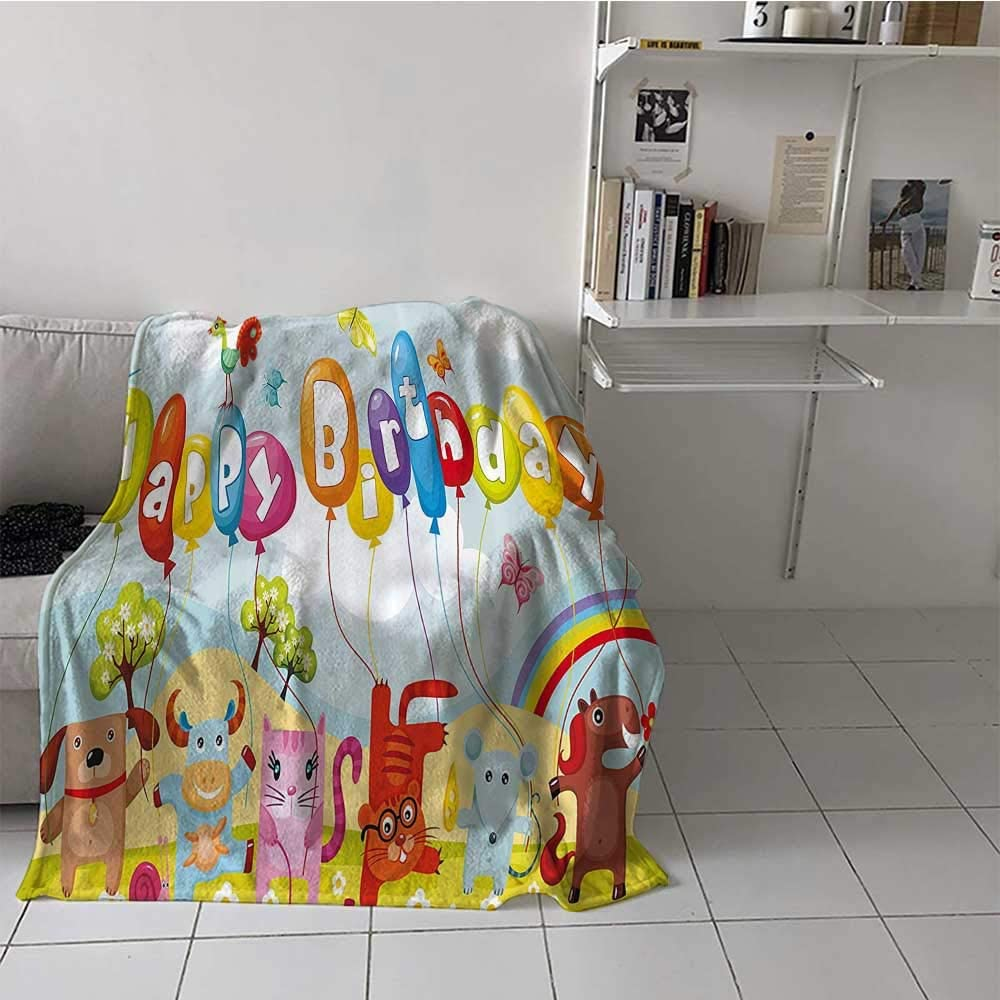 Throw Blanket Birthday Decorations Los Angeles Mall Miami Mall for Fade and Kids Res Wrinkle