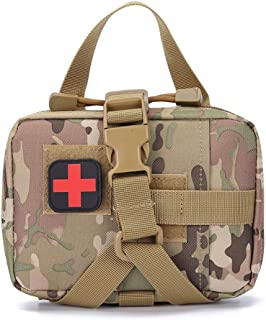 GZWEDO Military Tactical MOLLE First Aid Pouch Empty, MOLLE Belt Medical IFAK Rip Away EMT Pouch, Blowout First Aid Bag Only