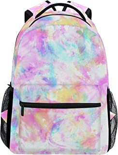 AGONA Colorful Tie Dye Print Stylish School Backpack Computer Laptop Bookbags College Bags Satchel Travel Bag Hiking Camping Daypack