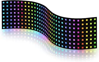 BTF-LIGHTING WS2812B RGB 5050SMD Individually Addressable Digital 8x32 256 Pixels LED Matrix Panel Flexible FPCB Full Colo...