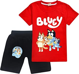 Blu-Ey Sea-Son Toddler Short Sleeve T-Shirt and Shorts 2 Pieces Set Boys and Girls Summer Tracksuit