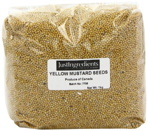 JustIngredients Essential Semillas de Mostaza Amarilla - 1000 gr