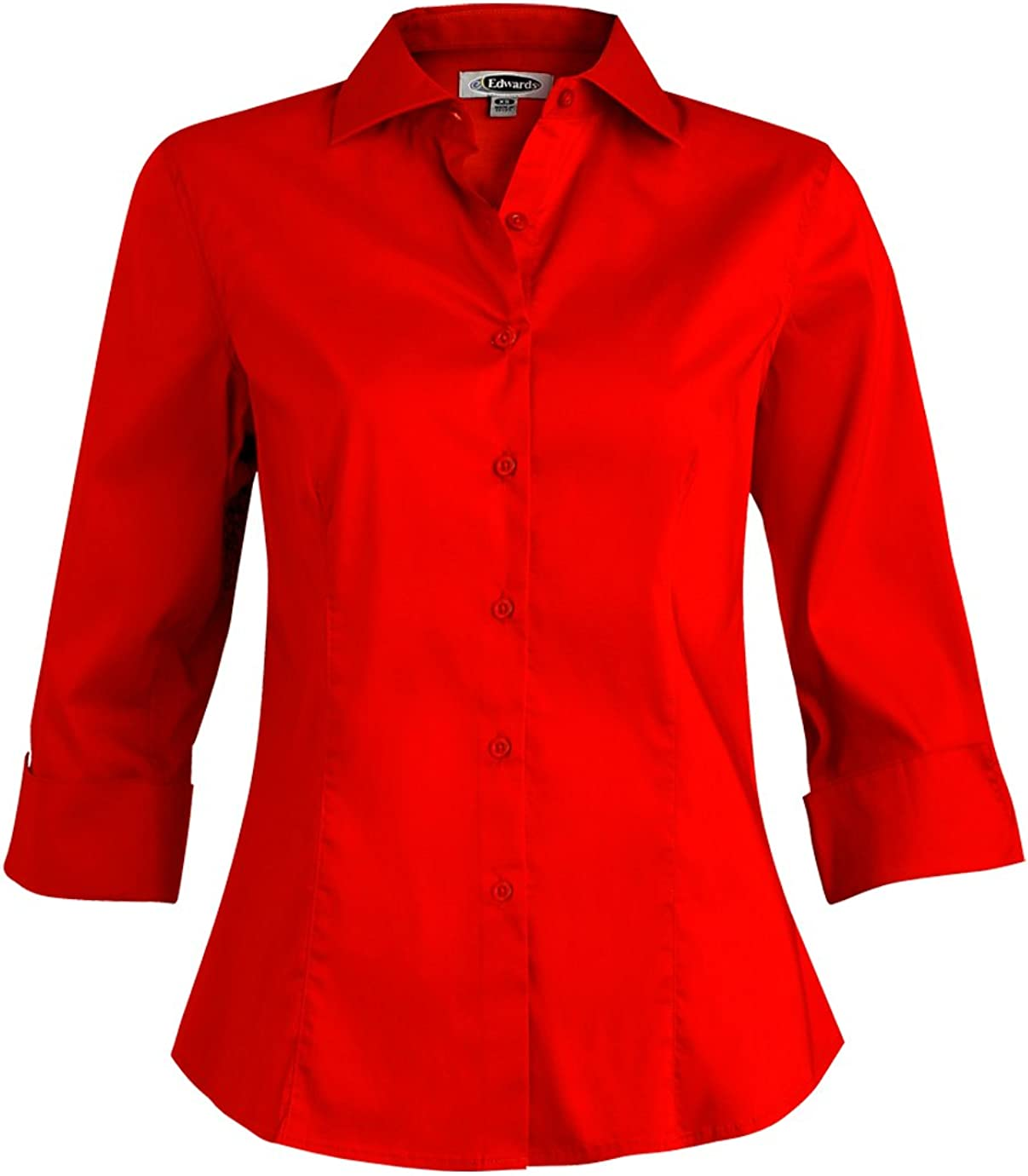 Edwards Garment Women's 3/4 Sleeve Wrinkle Resistant Stretch Cuff Blouse