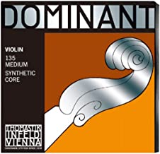 Thomastik-Infeld 135 Dominant Violin Strings, Complete Set, 135, 4/4 Size, with Aluminum Wound Ball End E String