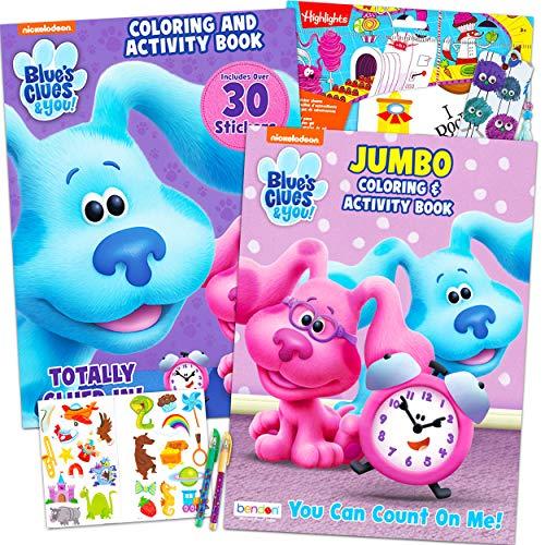 Nick Shop Juego de colorear y actividades para niños para fiesta de niños, incluye 2 libros para colorear con juegos y rompecabezas