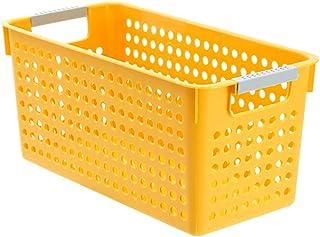 CNYG Boîtes de rangement en plastique polyvalentes pour cuisine, garde-manger, jouets, nourriture, vêtements Jaune 29 x 1...