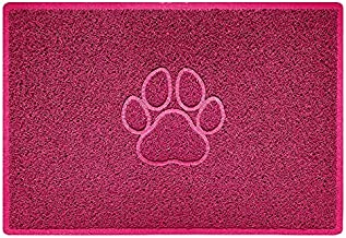Nicoman PAW Embossed Shape Door Mat-(Use Indoor or Sheltered Outdoor), Spaghetti Doormat, Pink, Large (90x60cm)