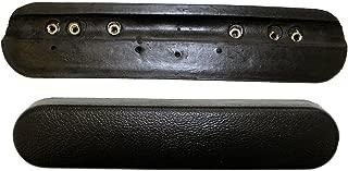 One Pair - Black Urethane Desk Length Wheelchair Armrests Pair, Universal Fit
