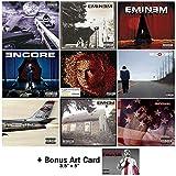 Eminem: Studio Albums 9 CD Collection (Slim Shady / Marshall Mathers LP 1 & 2 / Eminem Show / Encore / Relapse: Refill / Recovery / Revival / Kamikaze) with 7 Bonus Tracks + Art Card