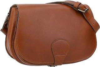 Gusti Umhängetasche Leder - Janike Handtasche Schultertasche Damenhandtasche Ledertasche Damen Vintage Braun