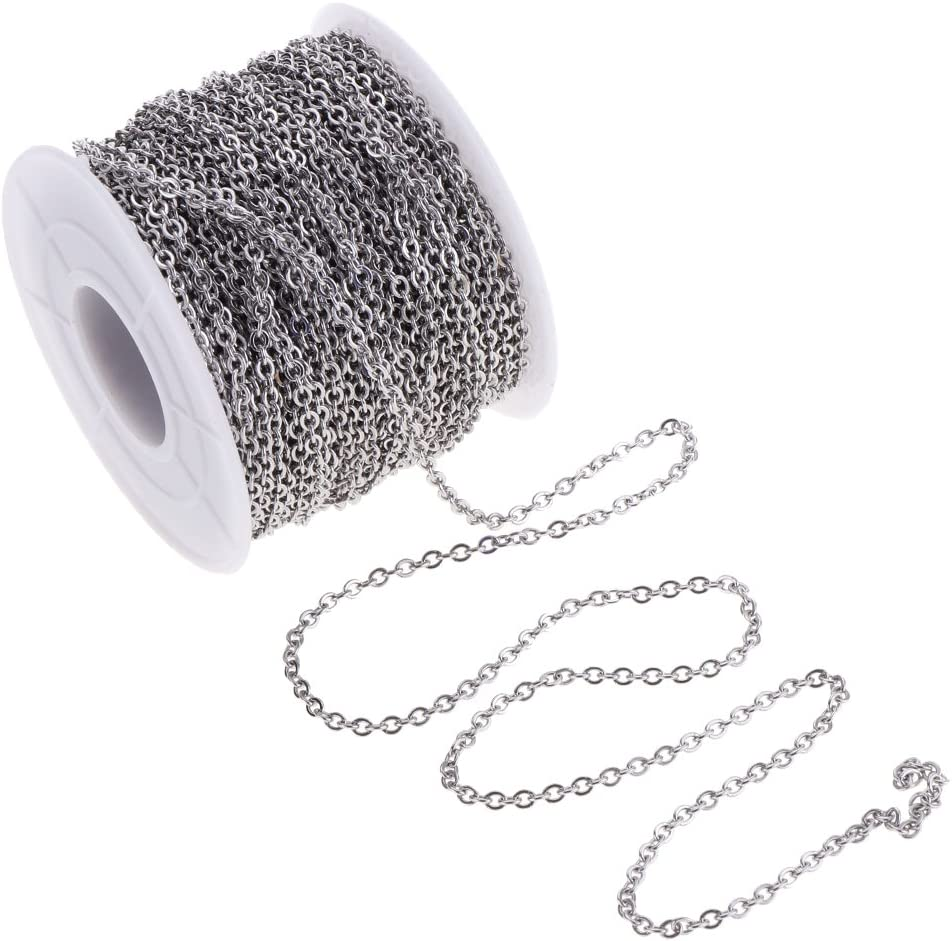 New product type Bonarty 13yd 2mm Stainless Steel Chain Max 71% OFF Crafts Necklace Beading B