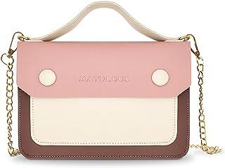 Mayplous Umhängetasche für Damen mit abnehmbarem Kettenriemen Schultertasche für Damen Kleine Handtasche Unterarmtasche 3 ...