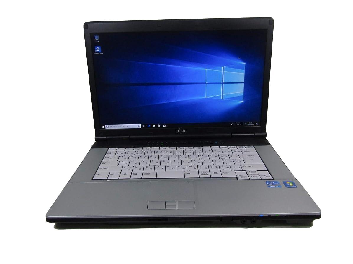 ハンディ不足ディーラー中古 富士通 ノートパソコン FMV-E741/C 正規office付き/第二世代 I5/Windows10 pro搭載/15.6インチ大画面/大容量8GBメモリー/HDD 250GB/無線LAN搭載/解像度1920*1080(フルHD) (メモリー4GB, HDD 250GB)