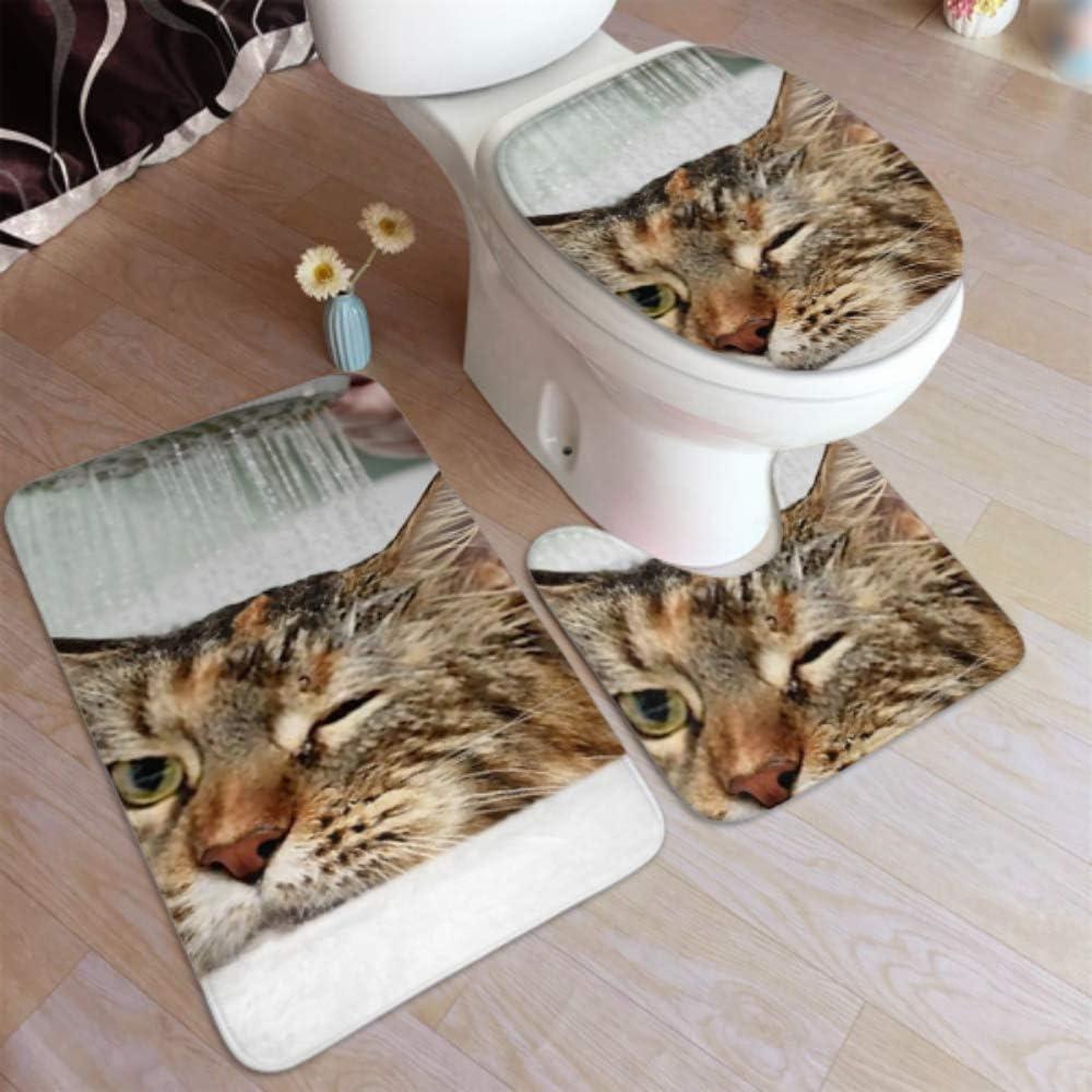 Bathroom Carpet Rugs Funny Cat Non M Wet Slip Max 61% Minneapolis Mall OFF