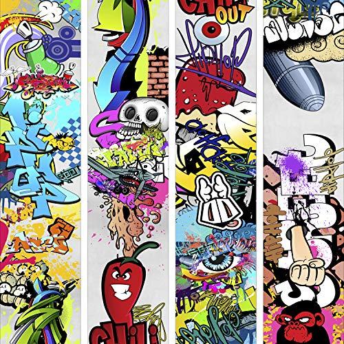 murando - PURO TAPETE selbstklebend 10m Wandtattoo dekorative Möbelfolie Dekorfolie Fotofolie Panel Wandaufkleber Wandposter Wandsticker - Graffiti f-A-0257-j-a