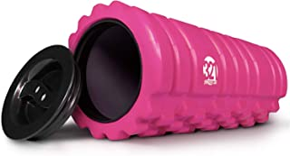 321 STRONG Foam Roller for Muscle Massage with End Caps - Store Keys, Towels, and Other Accessories - Black, Red, Blue, Pink