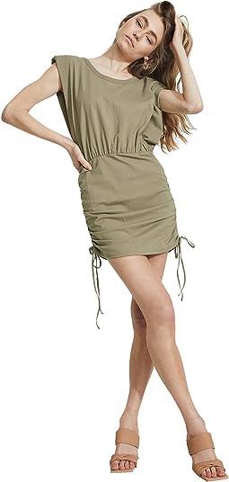 Toni Shoulder Pad Mini Dress