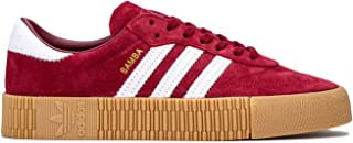 adidas Womens Originals Sambarose Trainers Sneakers in Collegiate Burgundy/Footwear White.