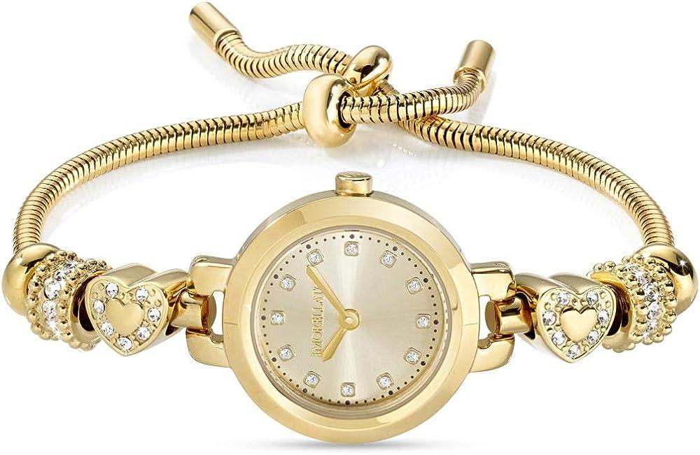 Morellato drops ,orologio per donna,in acciaio, pvd oro e cristalli R0153122545