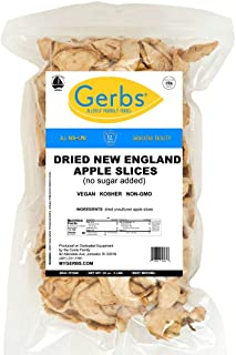 GERBS Dried New England Apple Slices, 32 ounce Bag, No Sugar Added, Unsulfured, Preservative, Top 14 Food Allergy Free