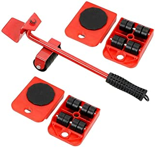 OUYAWEI Portable For Furniture Mover Tool Set Furniture Transport Lifter Heavy Stuffs Moving Tool 4 Wheeled Mover Roller+1...