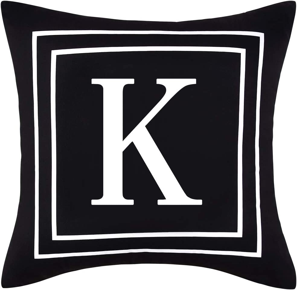 ASPMIZ Throw Pillow Super 35% OFF sale Covers K Ini English Alphabet