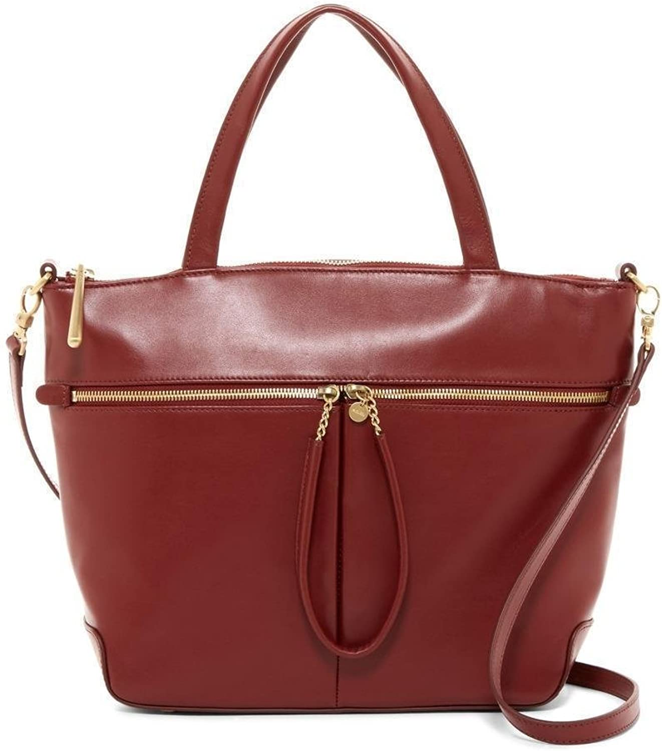 Hobo International Perfect Union Tote Wine Leather Satchel