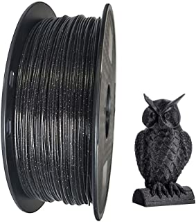 Kehuashina 3D Printer Marble PLA Filament 1.75mm 1KG(2.2LBS) Crystal PLA Shining Sky Speckle Sparkly Galaxy Black Color