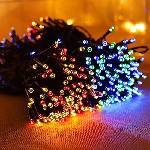 Solar String Lights Outdoor 72 ft 200 LEDs Solar Fairy Lights Waterproof Decoration Copper Wire Lights with 8 Modes for Party, Patio, Garden, Gate, Yard, Wedding, Christmas