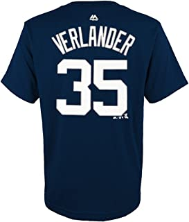 Justin Verlander MLB Detroit Tigers Player Jersey T-Shirt Youth (S-XL)
