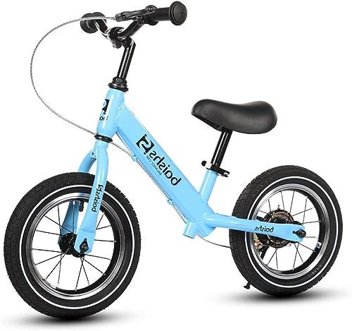 Motion   Bike 12 Roues de Frein à Main gonflables sans Cadre en Acier au voiturebone à pédale pour Enfants de 2, 3, 4, 5, 6 Ans pour Enfants Bleu