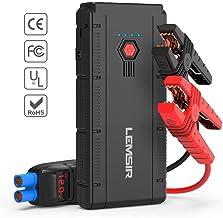 تقویت کننده باتری اتومبیل LEMSIR QDSP 1500A Peak 12V Portable Car Lithium Jump Starter تقویت کننده باتری تا 8.0L گاز یا 6.2L دیزل تلفن شارژر با کابل های بلوز هوشمند V2