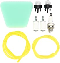 Savoir Air Filter Tygon Fuel Lines Fuel Filter Spark Plug Snap in Primer Pump Bulb Repair Kits for Poulan Homelite Husqvarna McCulloch Craftsman Echo Stihl Chainsaws Trimmers Brush Cutters Blowers