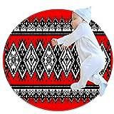 Alfombra redonda de estilo de decoración artística Serbia, antideslizante, alfombra suave, antimanchas, antideslizante, para salón, dormitorio, comedor, 2,62 pies