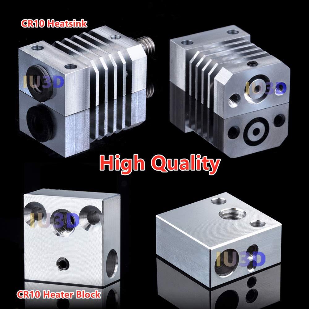 Hardened Steel Nozzle Kit S5. IU3D Upgrade CR10 Hotend All Metal Precision Hotend Titanium Alloy Heat Break for 3D Printer Ender 3 Ender 5 //Pro CR-10 CR10S CR-10 S4