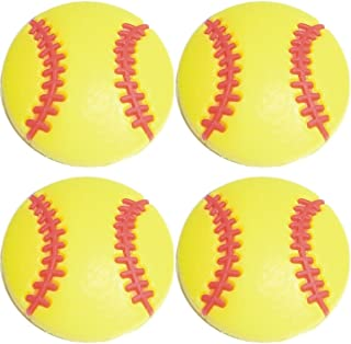 Four (4) of Yellow Softball Baseball Shoe Rubber Charms SC870