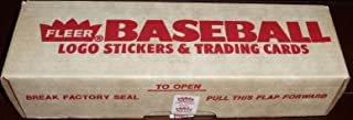 1989 Fleer MLB Baseball Factory Sealed Set with 660 Cards including Ken Griffey and Randy Johnson Rookie Cards and 45 Stickers plus