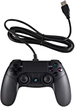 Wetoph Playstation 4 Remote Controller,CD34 Wired Controller for PS4 / PC with Vibration Feedback - Black