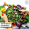 Salad Chopper Blade and Bowl – Stainless Steel Salad Cutter Bowl with Chef Grade Mezzaluna Salad Chopper – Ultra-Fast Salad Prep by Kitchen Hackables #1