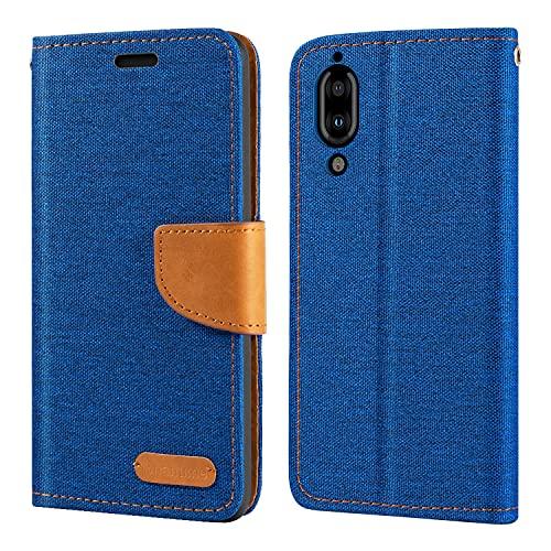 Sharp Aquos S2 Hülle, Oxford Leder Wallet Hülle mit Soft TPU Back Cover Magnet Flip Hülle für Sharp Aquos C10