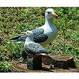 Helen & Co Resin Craft Seagull Statue Garden Sculpture Outdoor Landscape Decoration