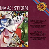 Henri Dutilleux: L'Arbe des Songes (Concerto for Violin & Orchestra) / Sir Peter Maxwell Davies: Concerto for Violin & Orchestra - Isaac Stern (1990-05-03)