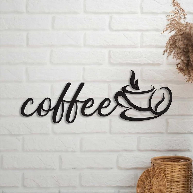 godblessign Coffee Metal Sign Max 49% OFF Laser Met Cut Words Ranking TOP20